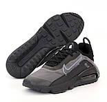 Мужские кроссовки Air Max 2090 серые с черным весна-осень демисезонные. Живое фото. реплика, фото 2