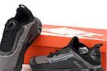 Чоловічі кросівки Air Max 270 React сірі з чорним весна-осінь демісезонні. Живе фото. репліка, фото 5