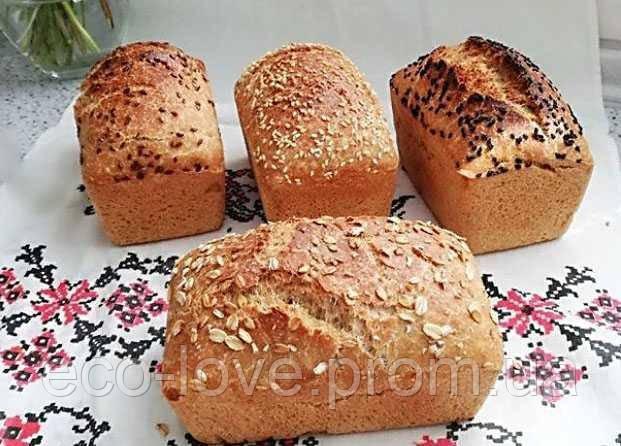 """Хліб живий бездріжджовий """"4 злаки"""" 0,5кг ТМ Живий хліб"""
