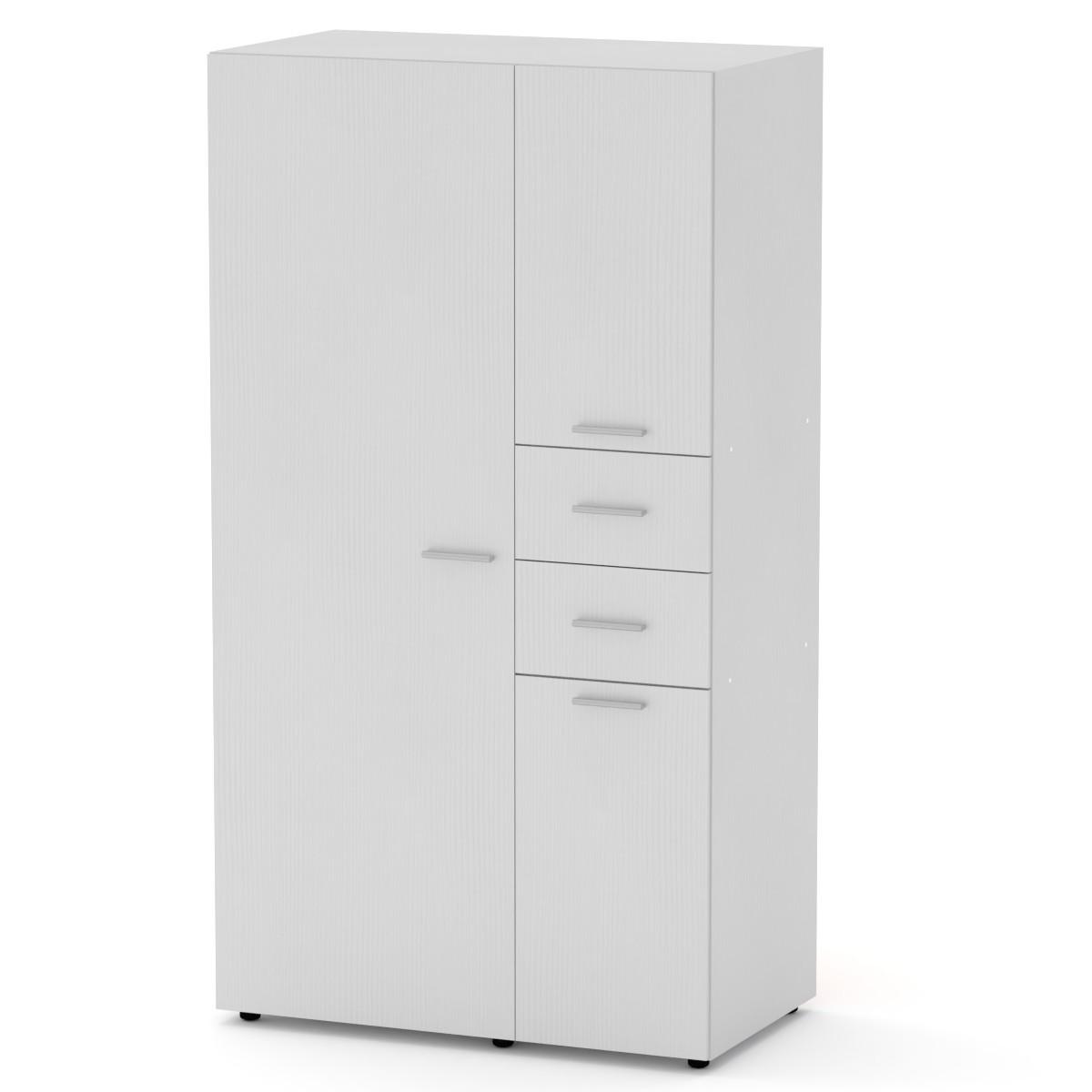 Шкаф-19 белый Компанит (111х62х203 см)