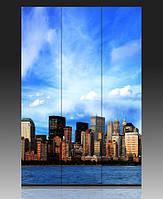 "Ширма деревянная ""Панорама Нью Йорк"""