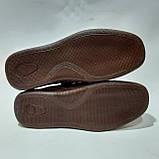Мужские кожаные туфли летние, прошитые BASTION (Бастион) на липучке коричневые, фото 8