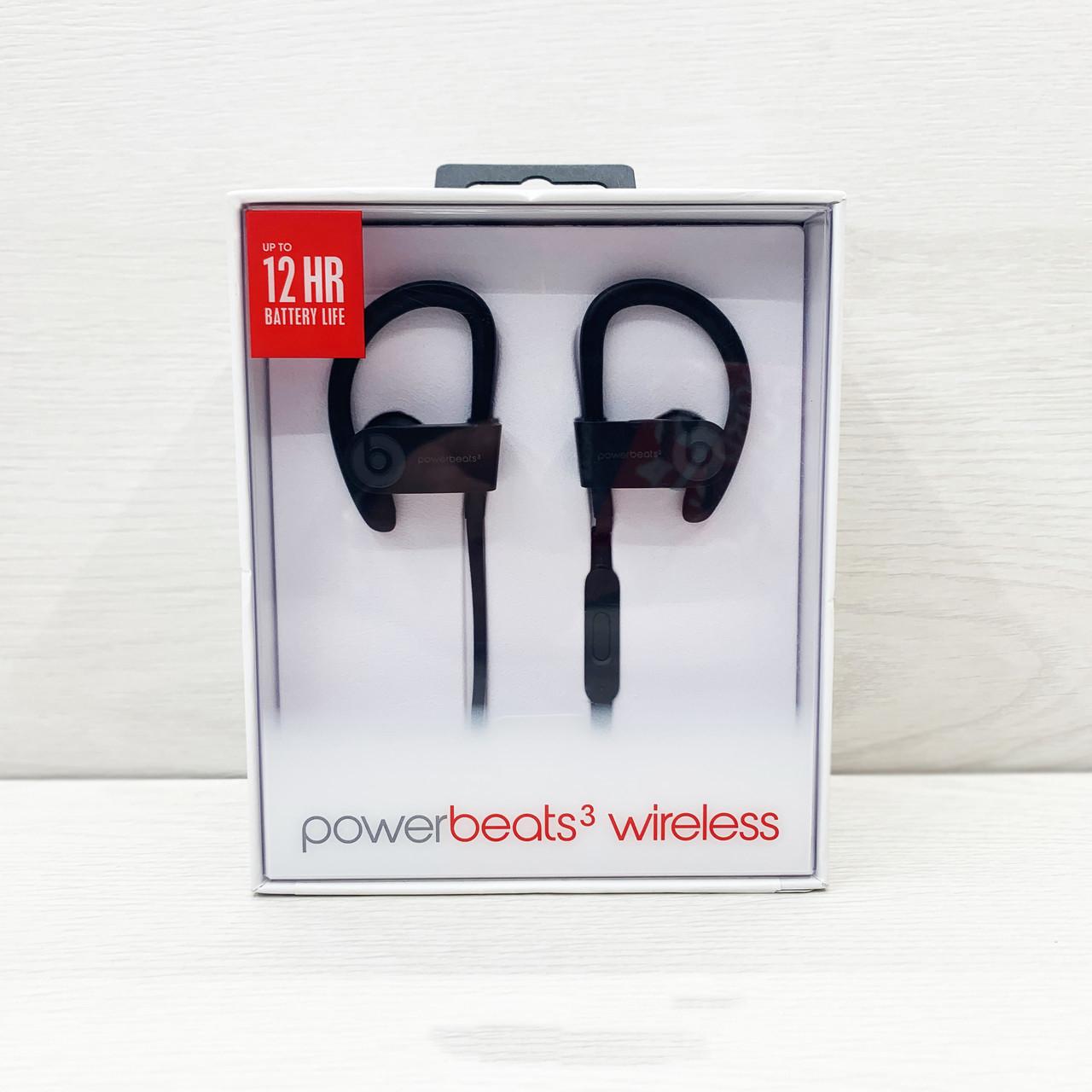 Навушники bluetooth BEATS Powerbeats 3 by dr.dre (чорні)