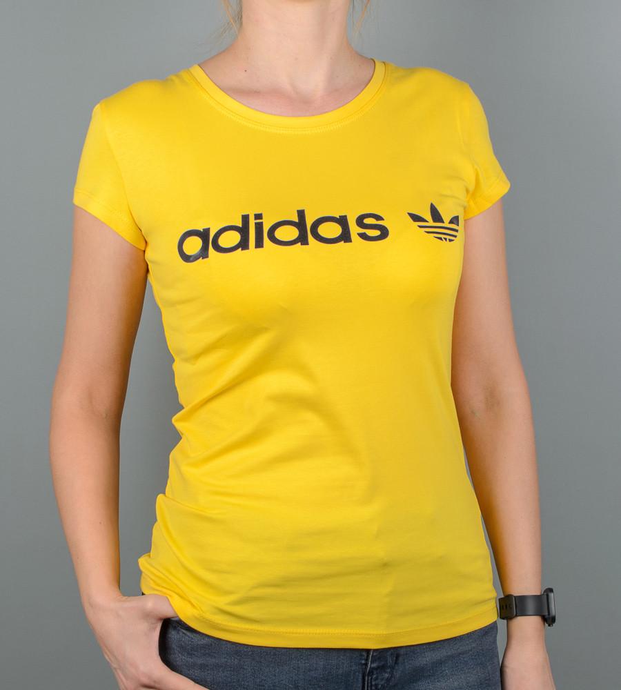Футболка женская спортивная Adidas (2017ж), Желтый