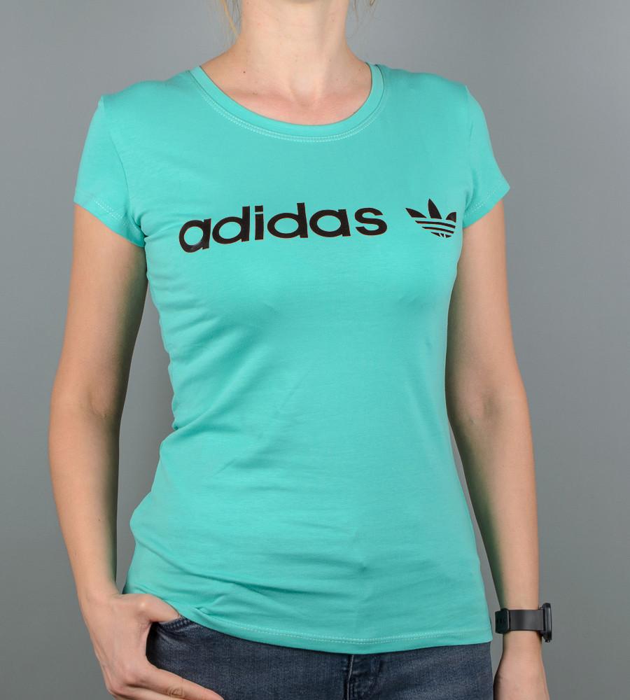 Футболка женская спортивная Adidas (2017ж), Мята