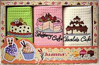 Набор кухонных вафельных полотенец 50*70 Juanna 3шт.