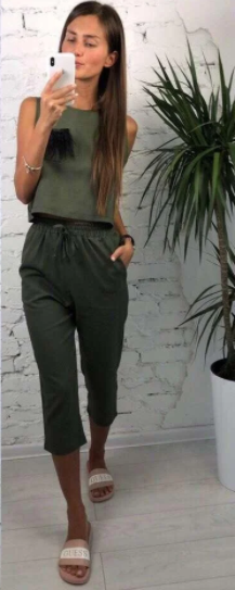 Женский костюм Darini green