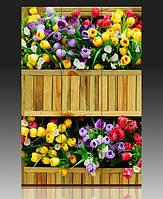 """Ширма деревянная """"Цветы в вазоне"""""""