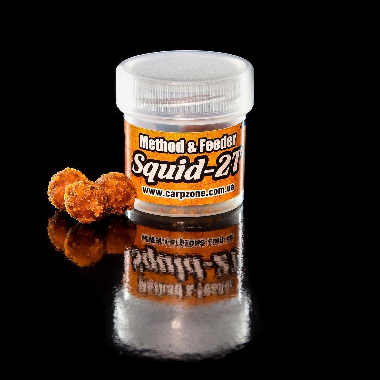 Бойлы насадочные пылящие Boilies Method & Feeder series Soluble Squid-2T (Сквид-Шелковица) 11mm / 10pc