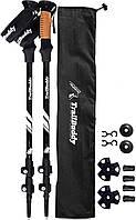 Треккинговые палки TrailBuddyUSA (черные) Туристические палки для ходьбы для хайкинга трекинга телескопические