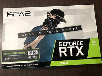 Новые,запечатанные видеокарты в наличии KFA2 GeForce RTX 3060 EX PCI-E 12. GB