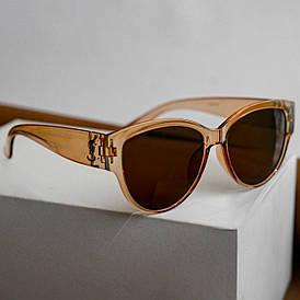 Солнцезащитные женские очки копия Yves Saint Lorraine (Ив Сен Лоран) (арт. 9785) Бежевый