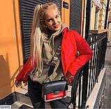 Осіння коротка куртка чорна червона гірчиця біла бежева сіра какао олів 42 44 46 осіння курточка дута, фото 7