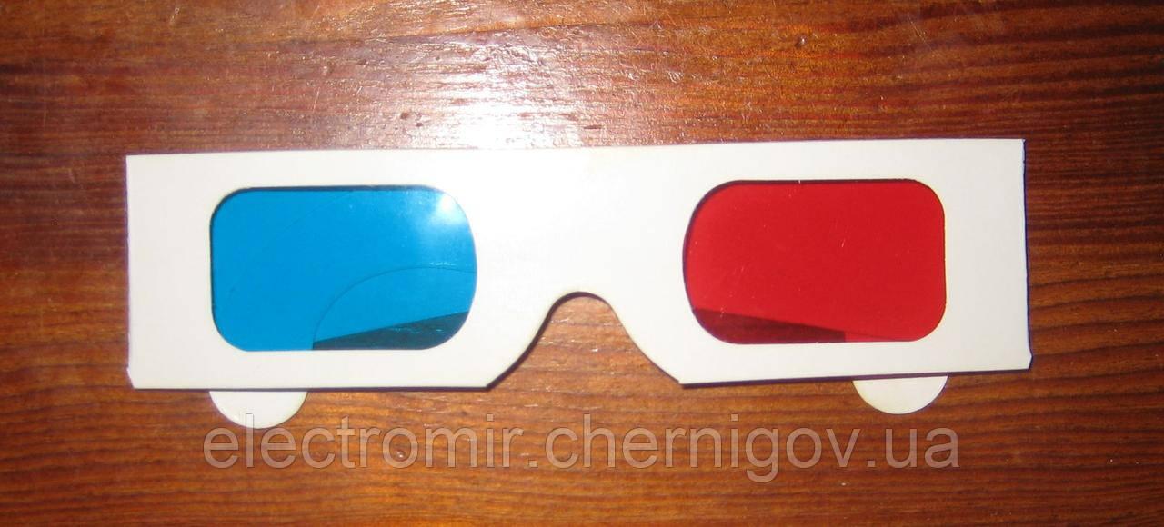 3D очки картонные