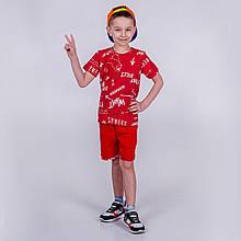 Літній костюм для хлопчика, футболка і шорти SmileTime Fun, червоний