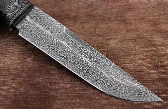 """Нож ручной работы """"Роскошный"""", мозаичный дамаск, фото 2"""