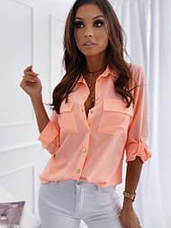Сорочка жіноча стильна з довгим рукавом