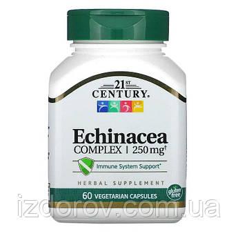 21st Century, Экстракт эхинацеи пурпурной, для укрепления иммунитета, Echinacea, 60 вегетарианских капсул