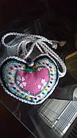 Декоративні підхоплення для штор ручної роботи сердечко фолк стиль