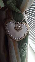 Декоративні підхоплення для штор ручної роботи сердечко з плетеними підв'язками