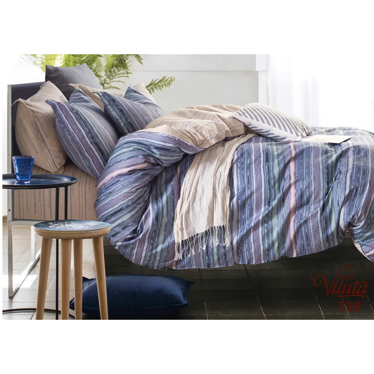 Комплект постельного белья Двухспальный Сатин Twill 318