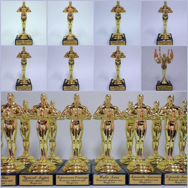 Примеры статуэток Оскар на выпускной