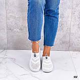 Жіночі кросівки білі без шнурівки текстиль сітка весна-літо-осінь, фото 2