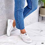 Жіночі кросівки білі без шнурівки текстиль сітка весна-літо-осінь, фото 3