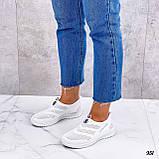 Жіночі кросівки білі без шнурівки текстиль сітка весна-літо-осінь, фото 4