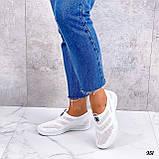 Жіночі кросівки білі без шнурівки текстиль сітка весна-літо-осінь, фото 6