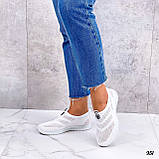 Жіночі кросівки білі без шнурівки текстиль сітка весна-літо-осінь, фото 7