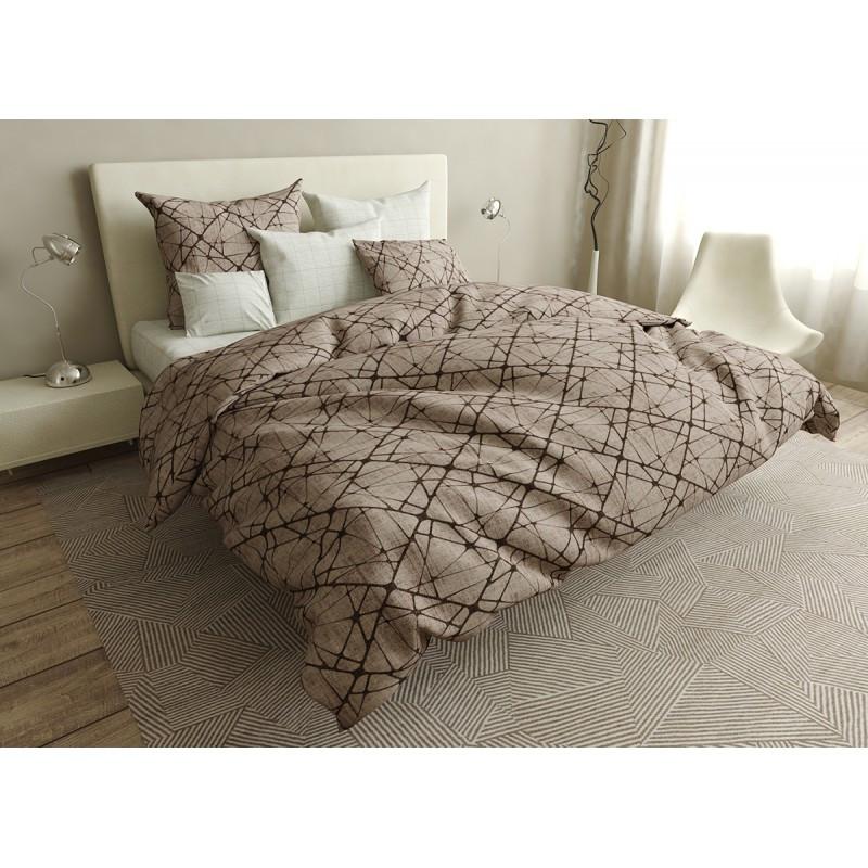 Комплект постельного белья Squares SoundSleep бязь двуспальный