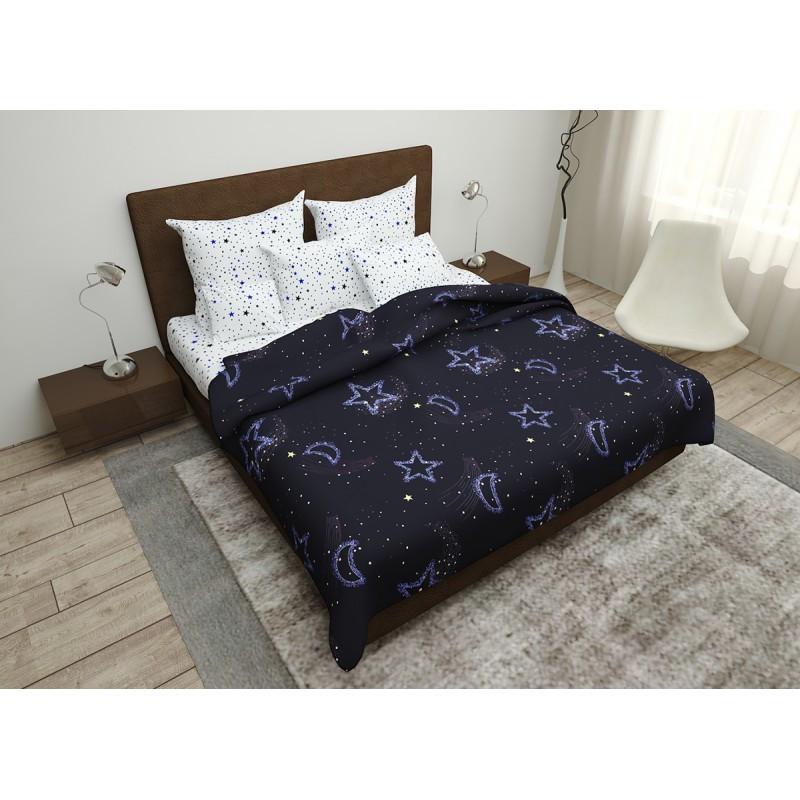 Комплект постільної білизни Night Sky SoundSleep бязь двоспальний