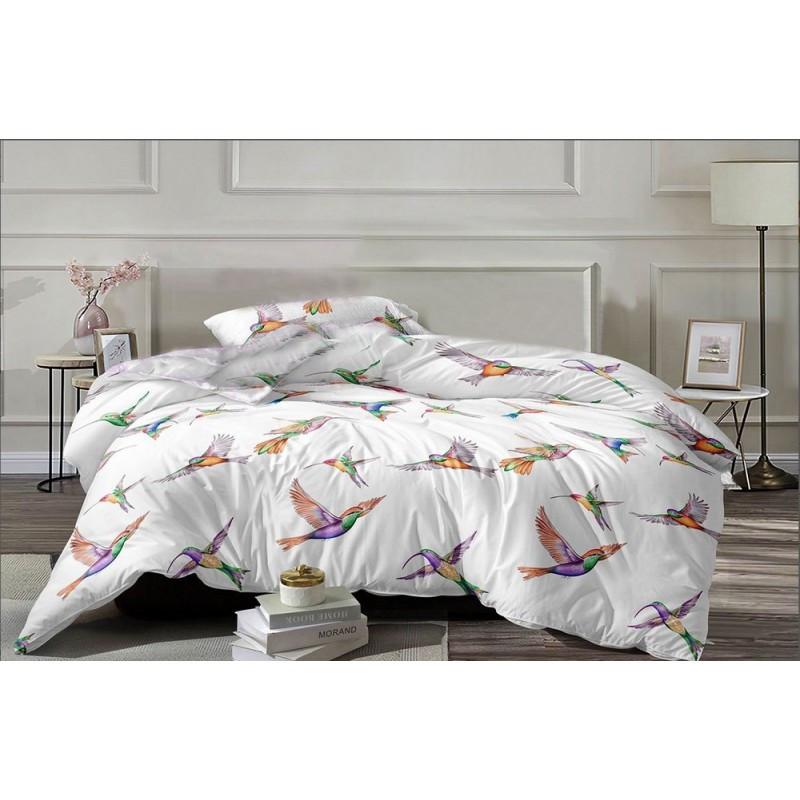 Комплект постільної білизни Hummingbird flies SoundSleep бязь двоспальний