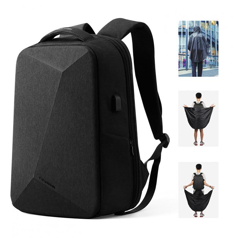 Городской черный вместительный рюкзак Mark Ryden Rock Rain с отделением для ноутбука Рюкзак с кодовым замком