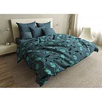 Комплект постельного белья Gradient leaves SoundSleep бязь полуторный