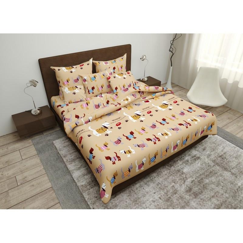 Комплект постільної білизни Meow SoundSleep бязь двоспальний