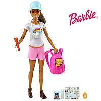 Кукла Барби Активный отдых с щенком Barbie Hiking Doll