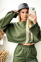 Жіночий яскравий спортивний костюм з укороченою кофтою в кольорах (Норма), фото 4