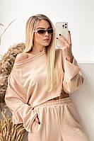 Жіночий яскравий спортивний костюм з укороченою кофтою в кольорах (Норма), фото 7