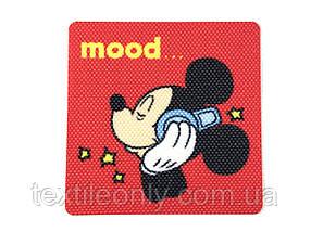 Нашивка Микки Маус / Mickey Mouse 60х60 мм