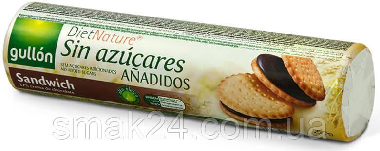 Печенье БЕЗ САХАРА с шоколадным кремом Gullon DietNature  Испания 250г