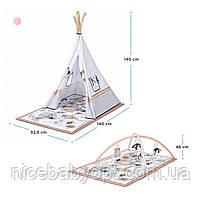 Развивальний килимок-палатка 3 в 1 Kinderkraft Tippy, фото 5