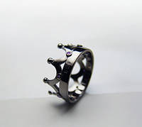 """Серебряное кольцо """"Черная корона"""" с аметистом от WickerRing"""