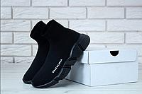 Balenciaga кроссовки носки Speed Trainer / Баленсиага сникерсы черные высокие текстильные мужские женские