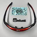 Очки велосипедные  co сменными линзами, красные, фото 4