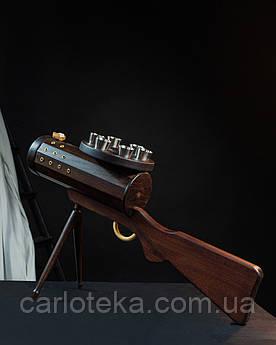 """Подарунок міні бар з дерева """"Кулемет"""""""