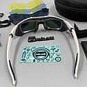 Окуляри велосипедні co змінними лінзами білі, фото 6