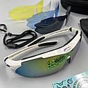 Окуляри велосипедні co змінними лінзами білі, фото 4