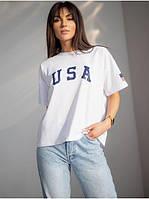 Женская футболка оверсайз с принтом белая Модные женские футболки 2021